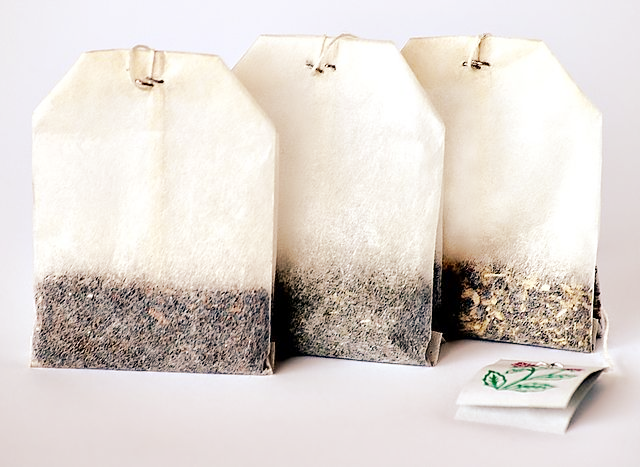 tea bags and tea packaging