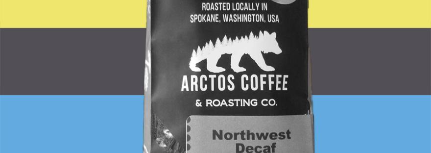 banner of arctos coffee's northwest decaf